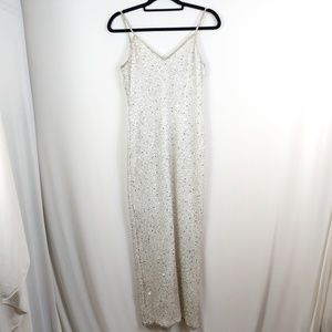 Vintage Laurence Kazar Beaded & Sequin Maxi Gown